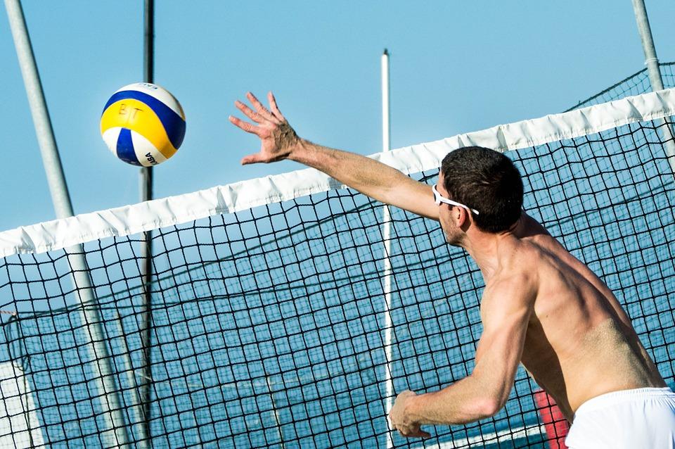 beach volleyball, ball, volleyball