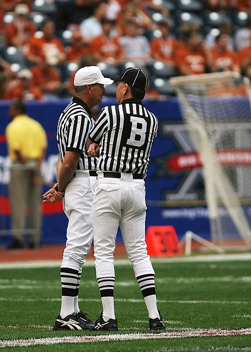 football officials, referees, american football
