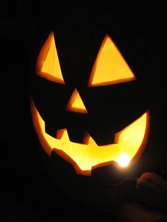 halloween, pumpkin, light