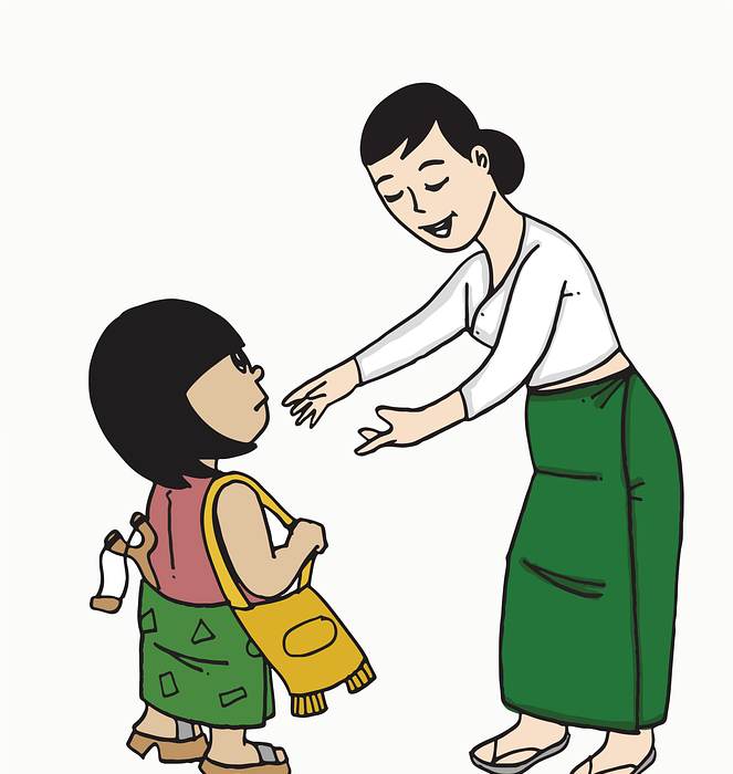 teacher, girl, woman