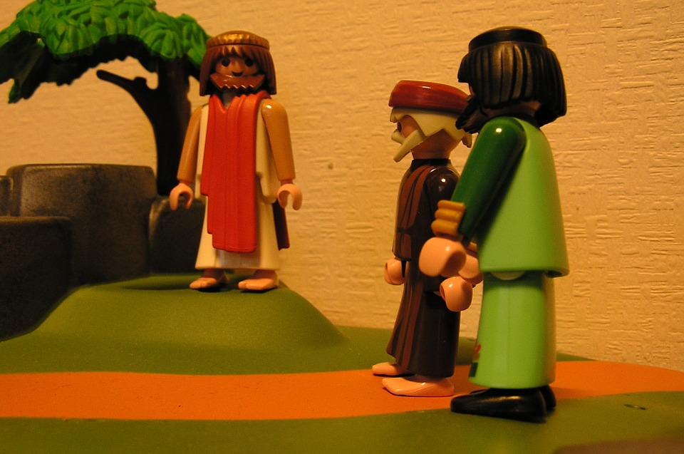 playmobil, jesus, the disciples