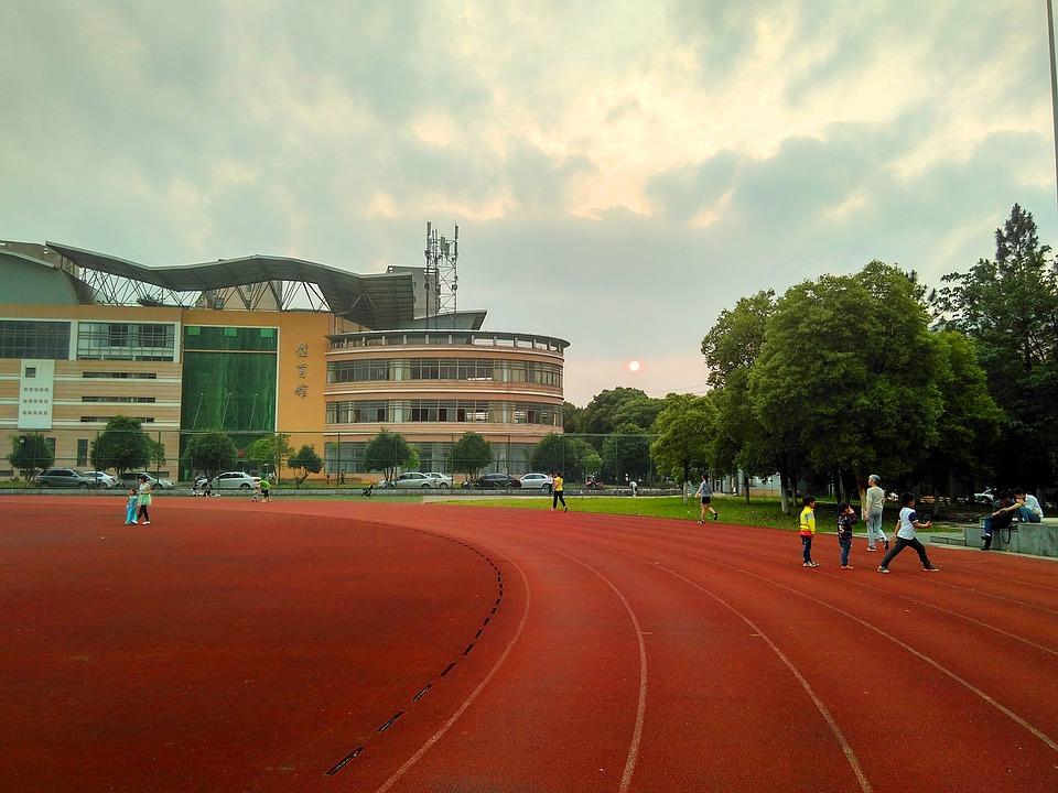 athletic field, stadium, playground