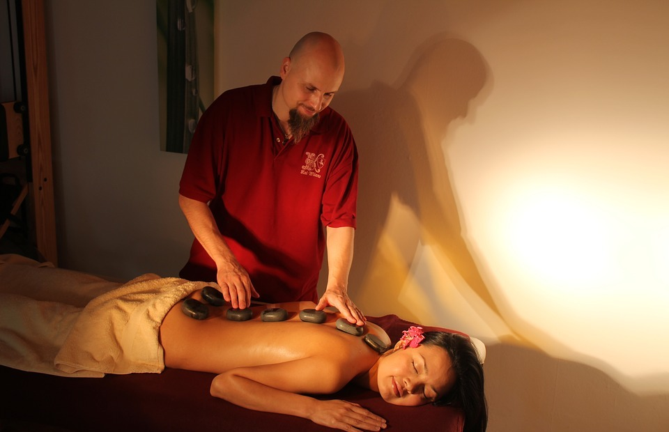 wellness, massage, hot stone