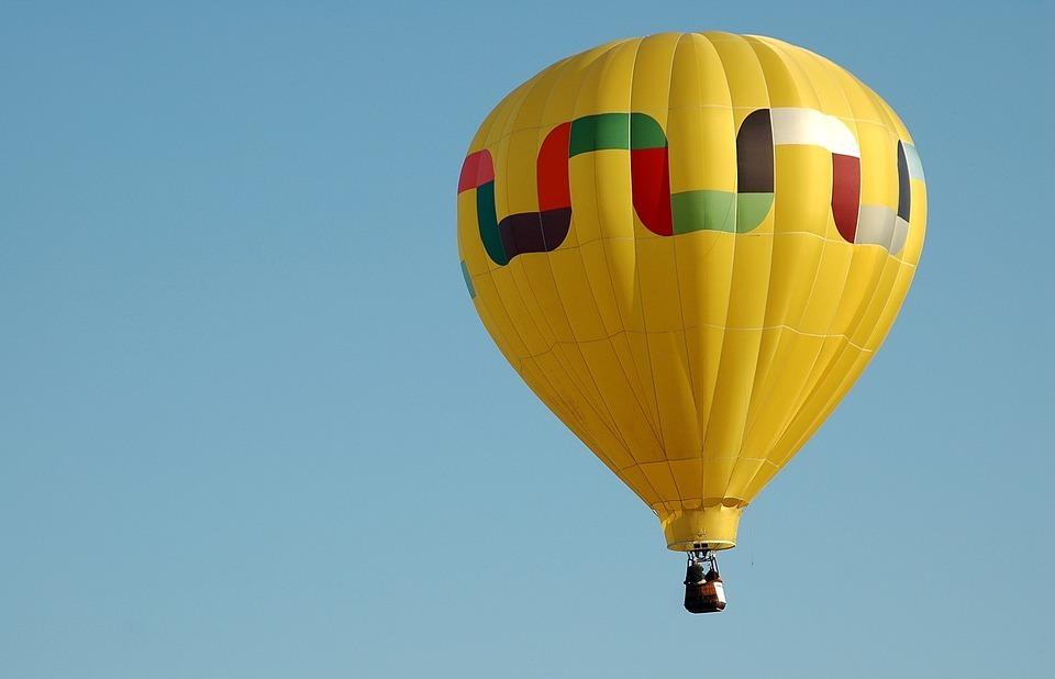 hot air balloon, flight, air