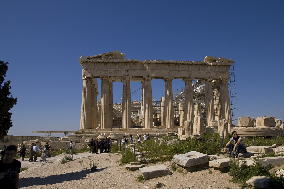 temple, athens, travel
