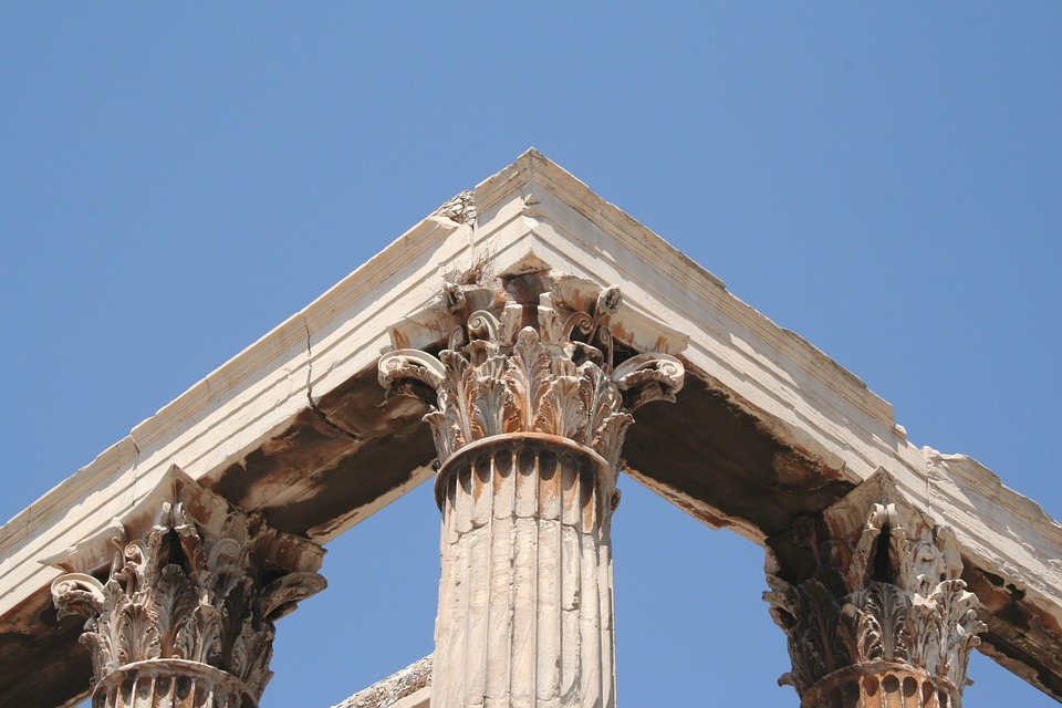 column, history, athens