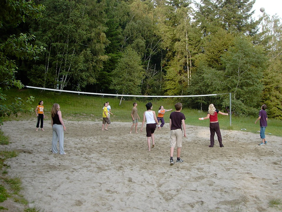 beach volleyball, young people, girl