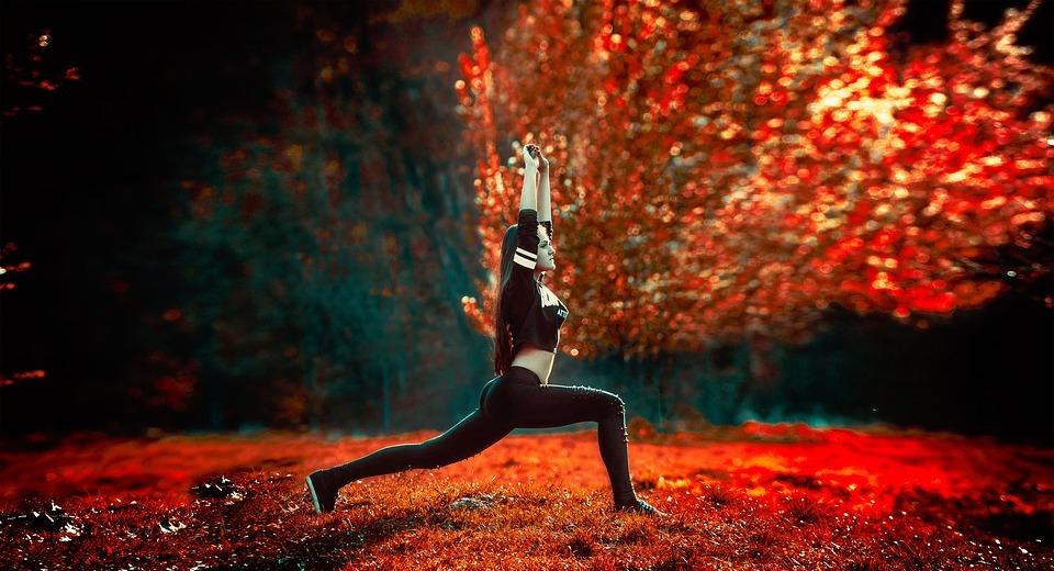 athletic girl, yoga, sports
