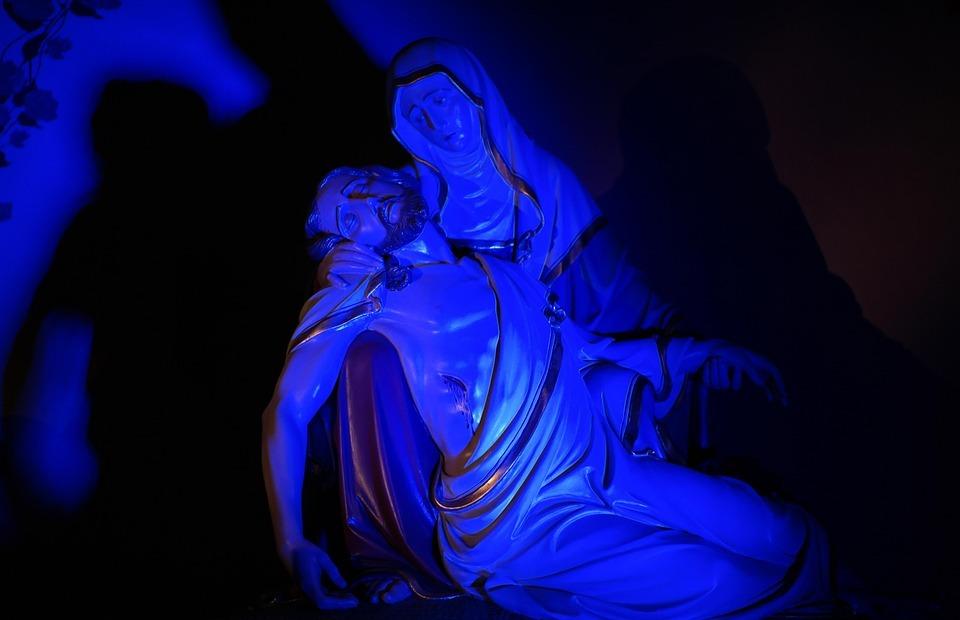 jesus, maria, pietà
