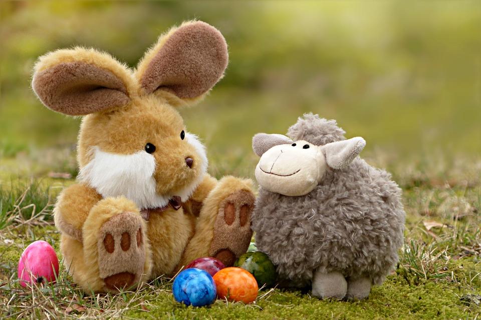 easter, easter bunny, easter eggs