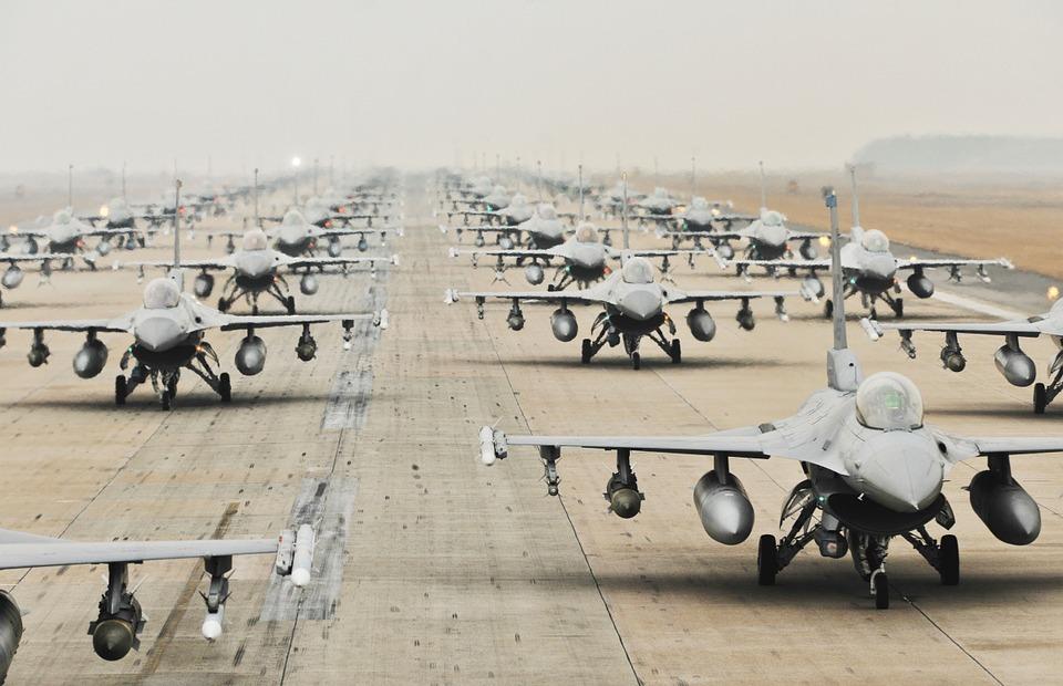 military jets, runway, training