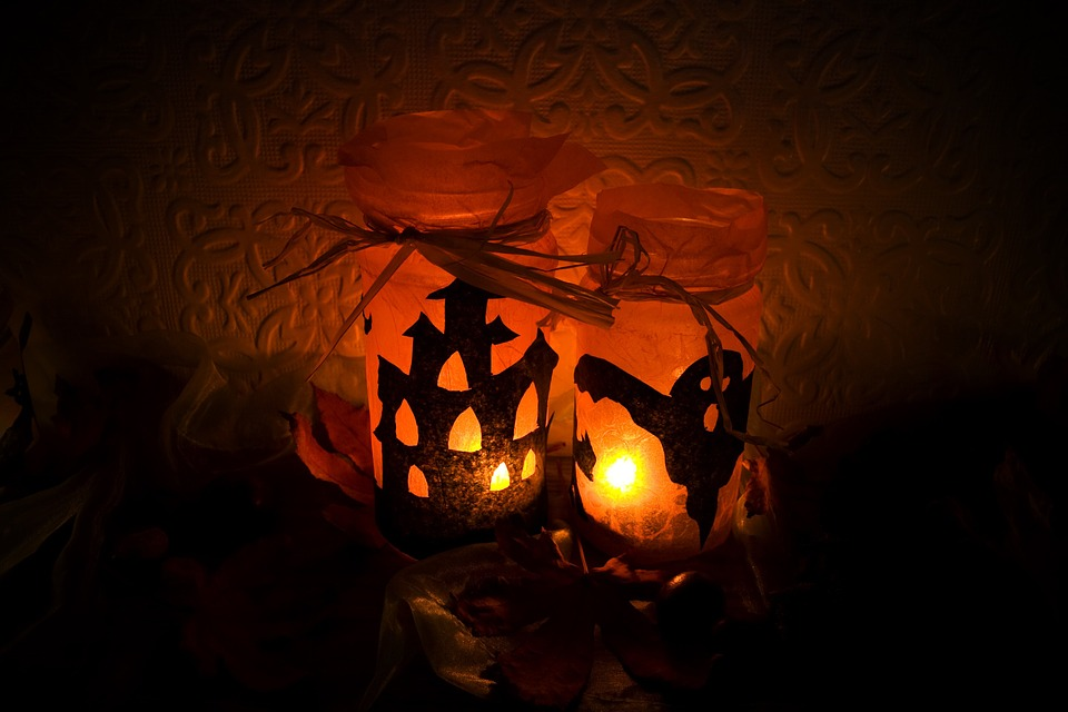 halloween, light, candles
