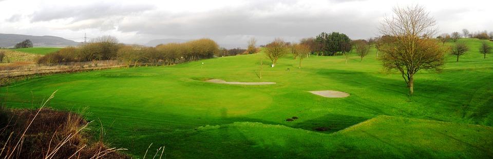 golf, golf course, landscape