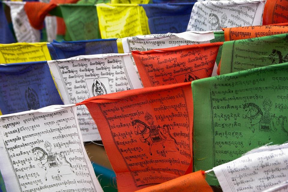 nepal, prayer flags, religion