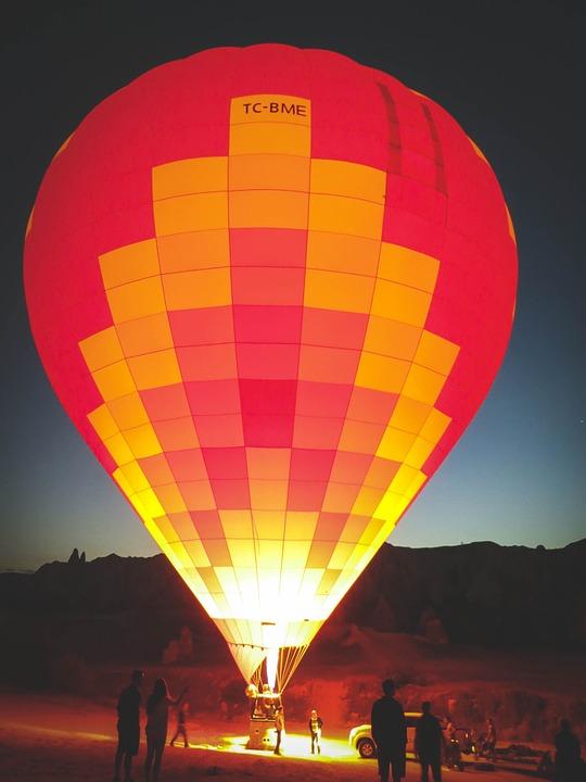 balloon, hot air balloon, upright