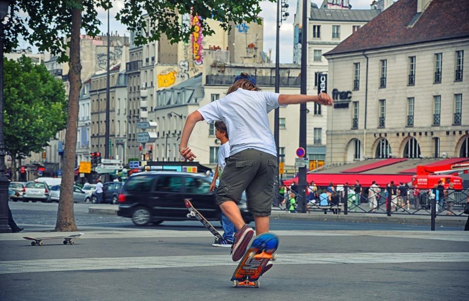skateboard, adolescence, urban sport