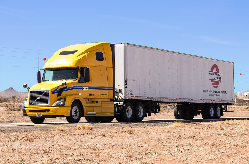 truck, semi truck, semi-truck