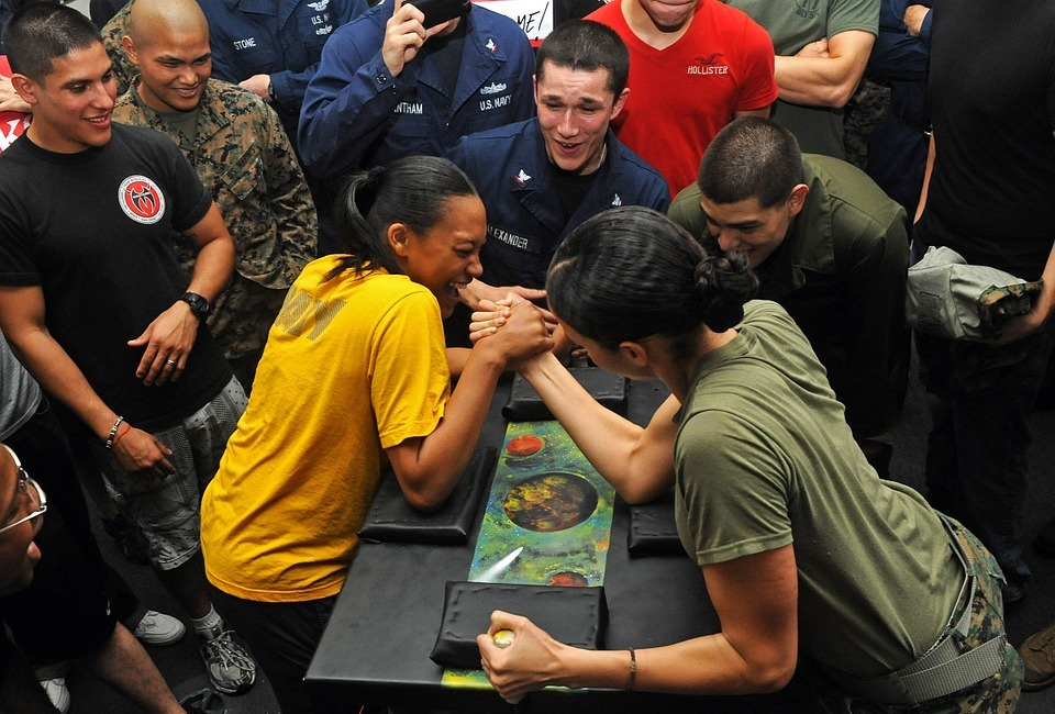 arm wrestling, competition, women