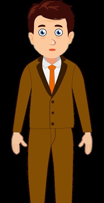 teacher, man, cartoon