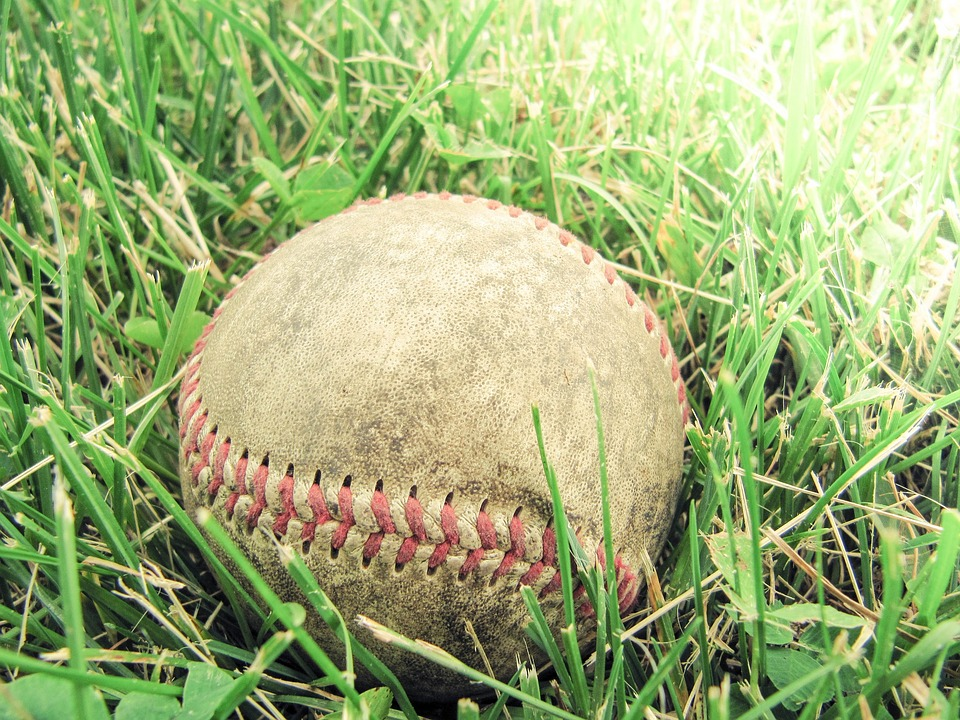 baseball, grass, game