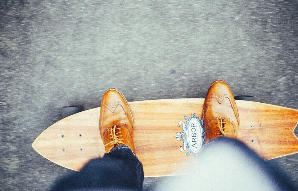 skateboard, skateboarder, young