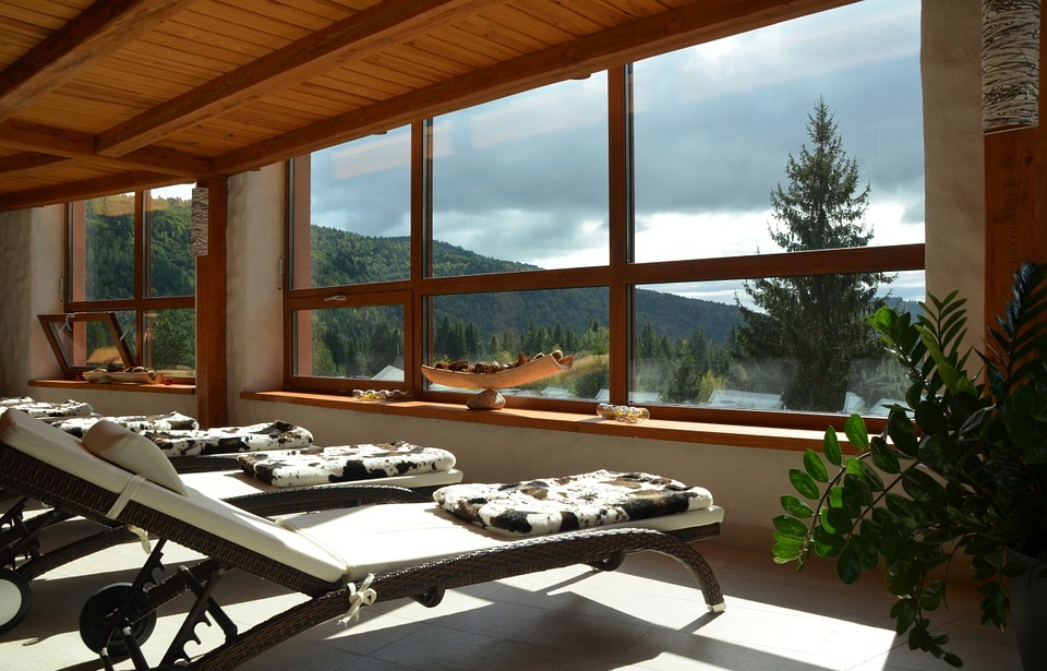 spa, relax, window view