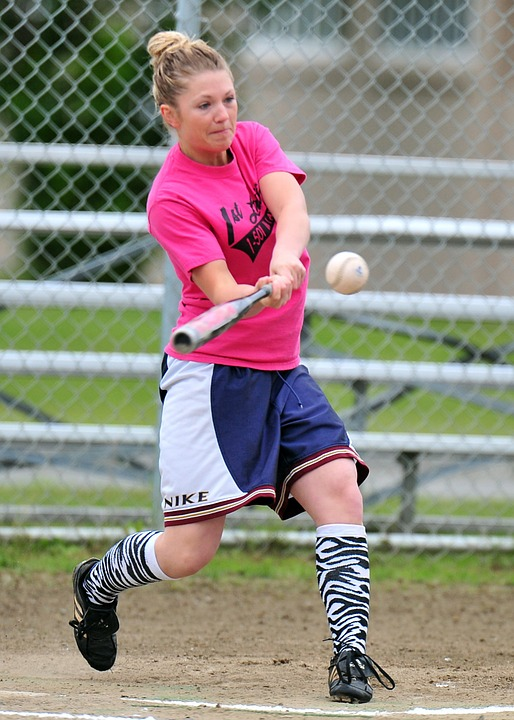 softball, women, batter