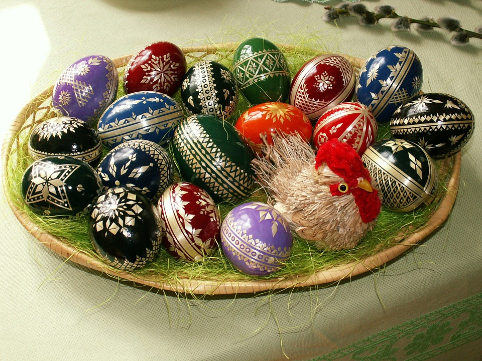easter, easter eggs, easter nest