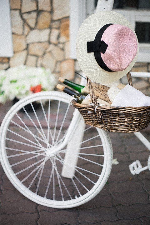 bicycle, wine, picnic