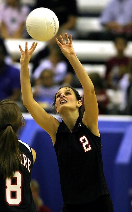 volleyball, teenager, girls volleyball
