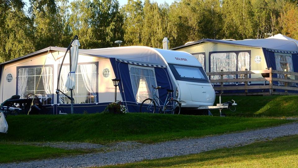 caravan, camping, tent