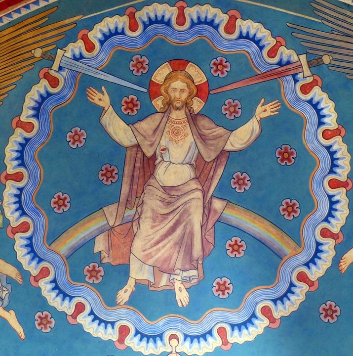 jesus, church, mural