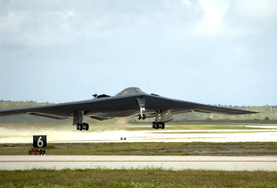 military, stealth bomber, jet