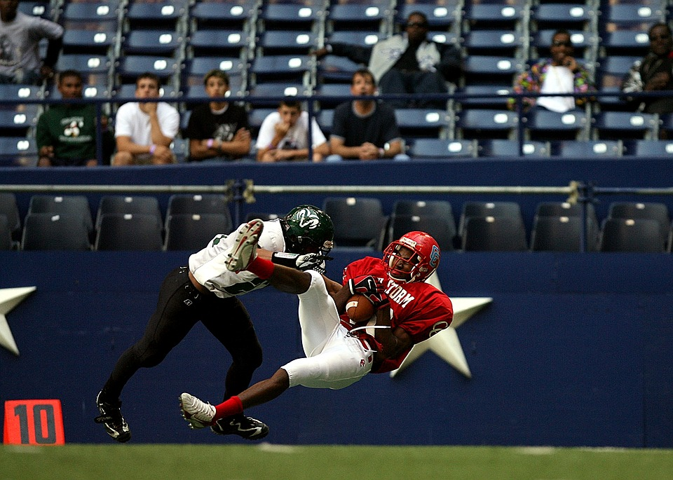 american football, action, receiver