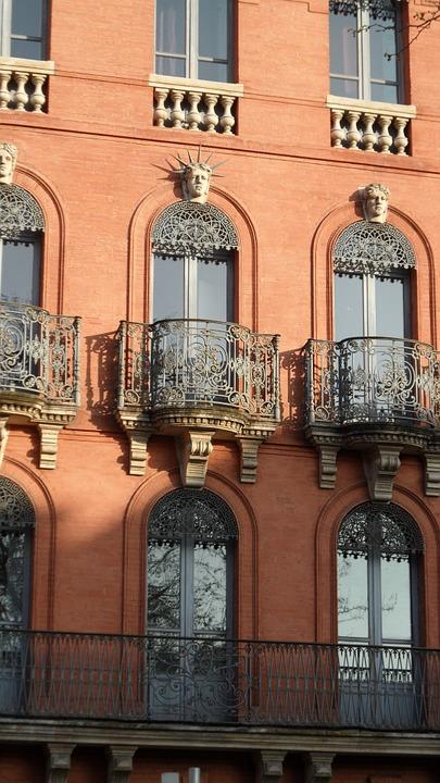 windows, gothic, railings
