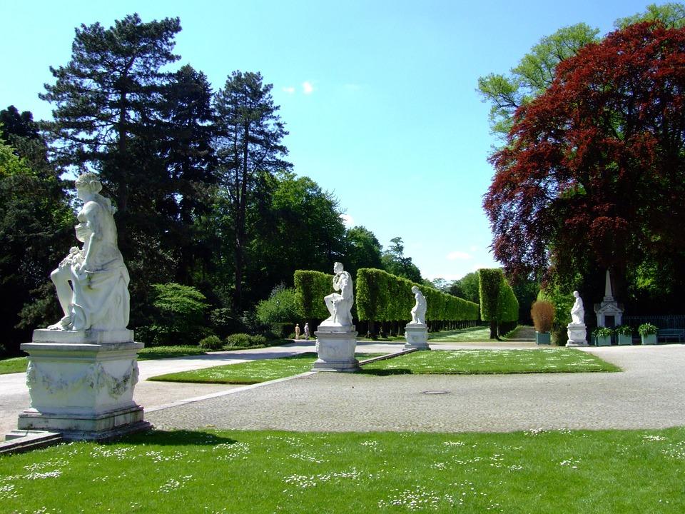 castle benrath, castle park, düsseldorf