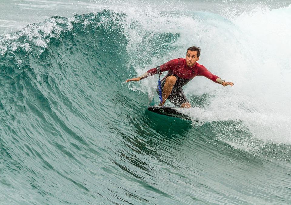 surfing, surfboard, man