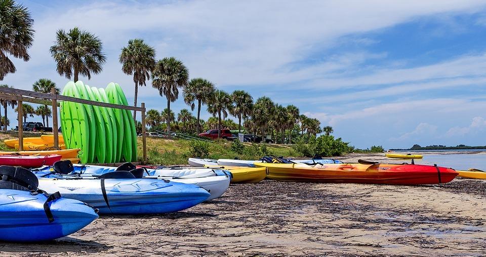 kayak, surfing, beach