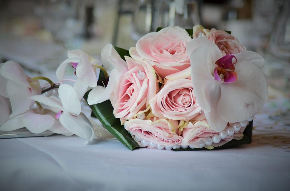 bouquet wedding, wedding, pink