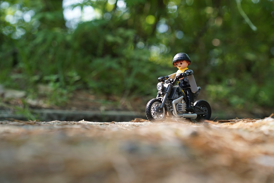 playmobil, bike, motorcycles
