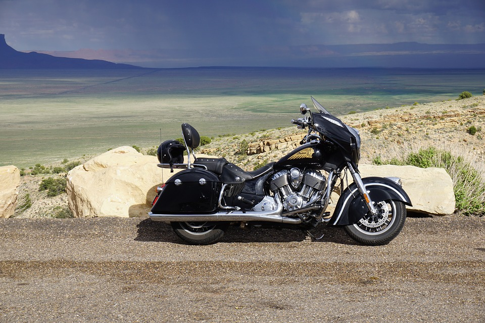 motorcycle, usa west, rainbow