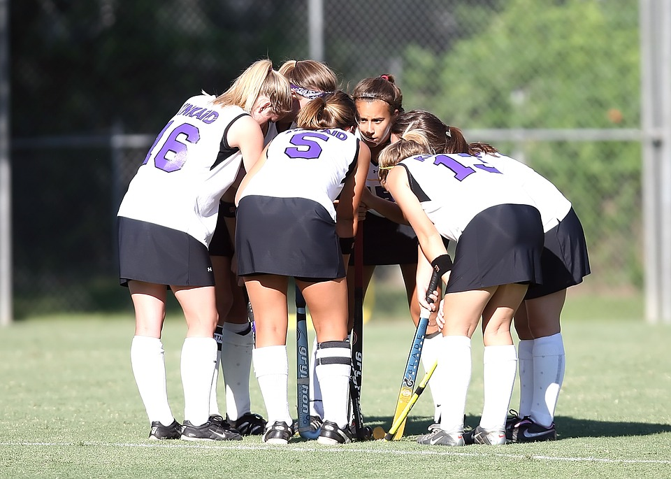 field hockey, team, girls