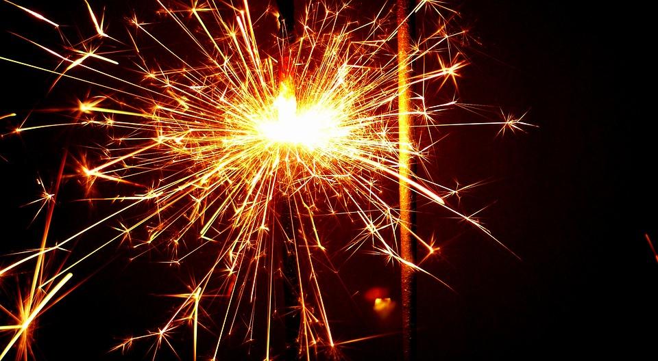celebration, fire, fireworks
