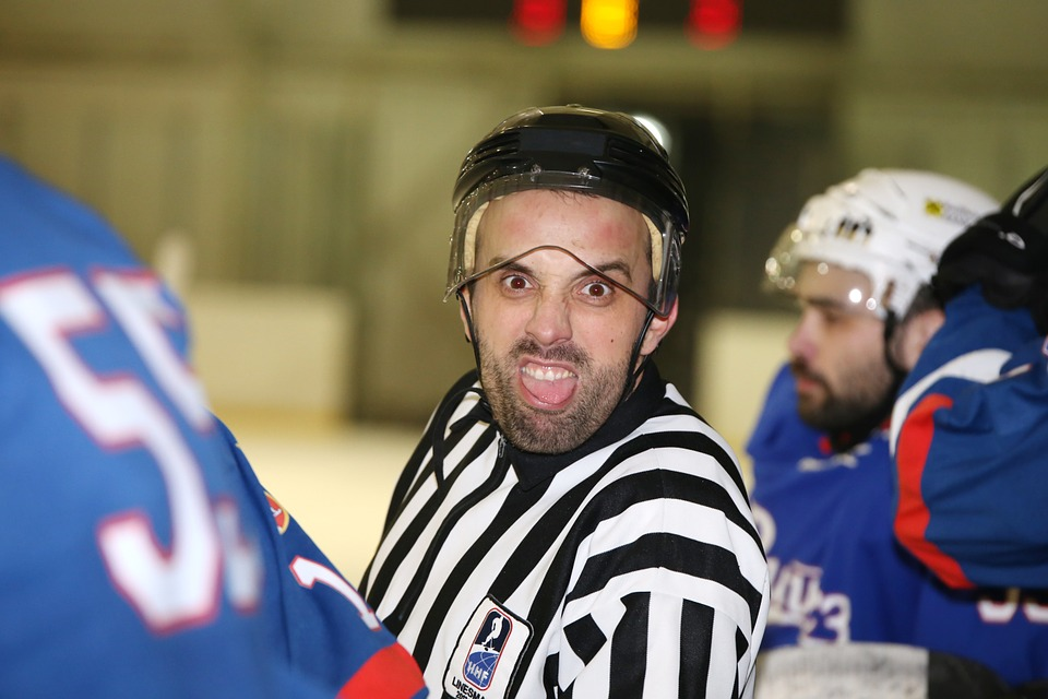ice hockey, referee, sports
