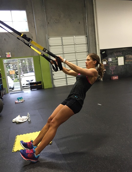 trx, row, workout