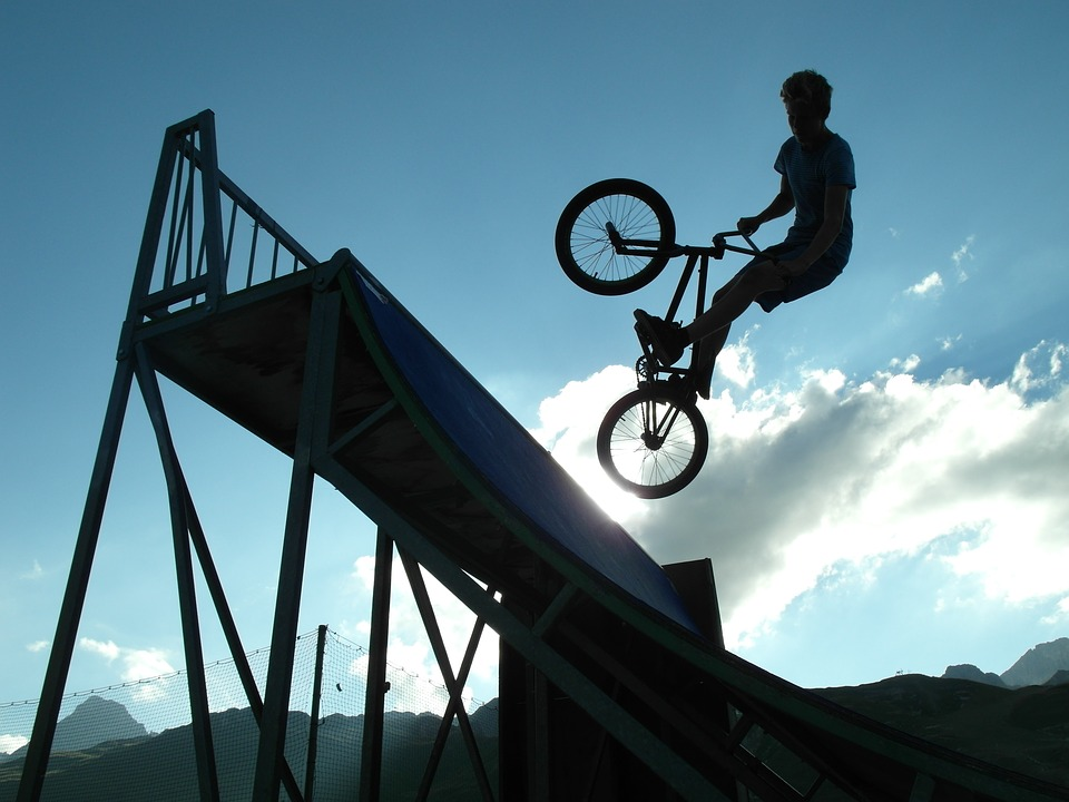 bmx, shadow, bicycle