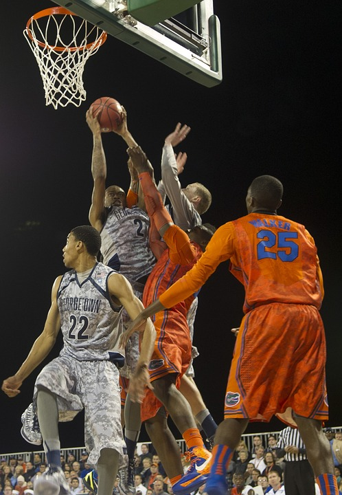 basketball, game, basket