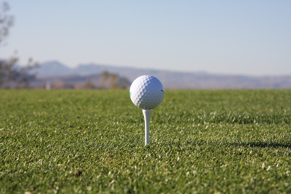 golf, tee, golfing