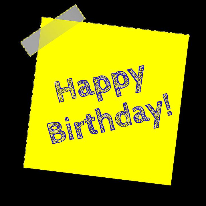 birthday, happy birthday, yellow