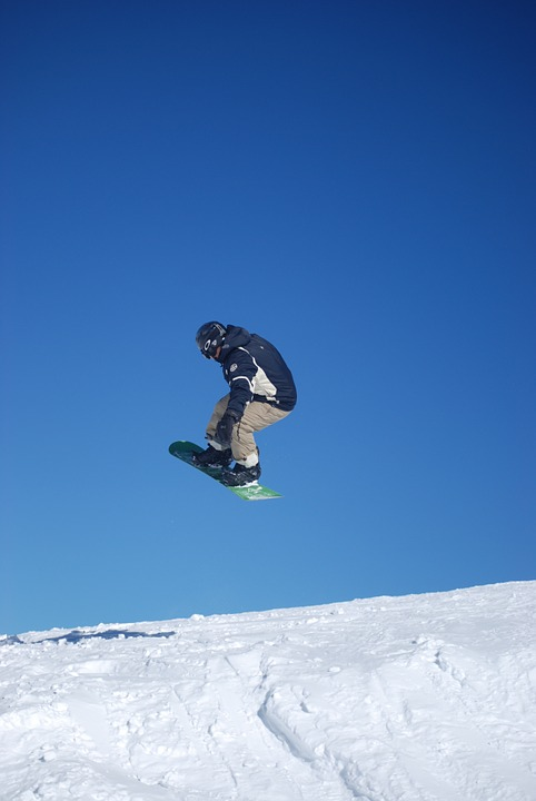 snowboard, fresh, winter